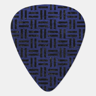 WOVEN1 BLACK MARBLE & BLUE LEATHER (R) GUITAR PICK