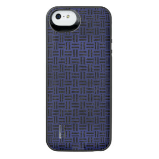 WOVEN1 BLACK MARBLE & BLUE LEATHER (R) iPhone SE/5/5s BATTERY CASE