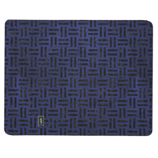 WOVEN1 BLACK MARBLE & BLUE LEATHER (R) JOURNAL