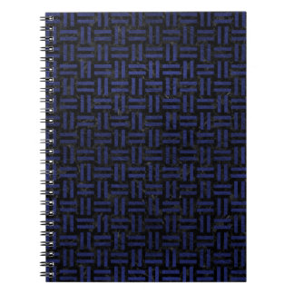 WOVEN1 BLACK MARBLE & BLUE LEATHER SPIRAL NOTEBOOK