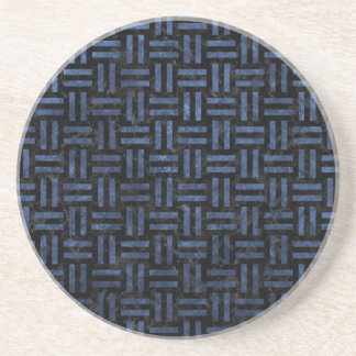 WOVEN1 BLACK MARBLE & BLUE STONE COASTER