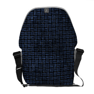 WOVEN1 BLACK MARBLE & BLUE STONE COMMUTER BAGS