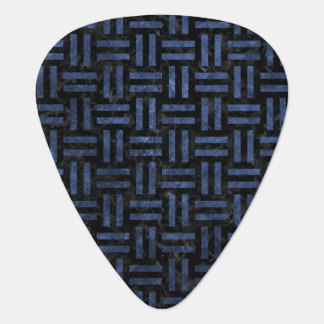 WOVEN1 BLACK MARBLE & BLUE STONE GUITAR PICK