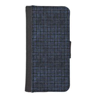 WOVEN1 BLACK MARBLE & BLUE STONE iPhone SE/5/5s WALLET CASE