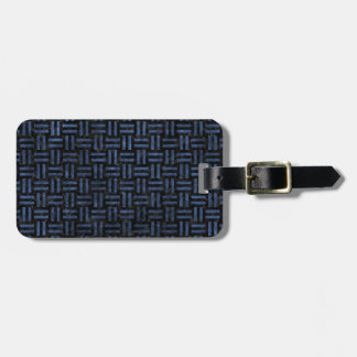 WOVEN1 BLACK MARBLE & BLUE STONE LUGGAGE TAG