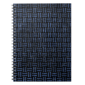 WOVEN1 BLACK MARBLE & BLUE STONE NOTEBOOK