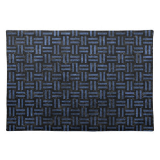 WOVEN1 BLACK MARBLE & BLUE STONE PLACEMAT