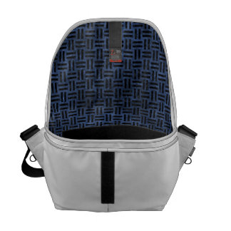 WOVEN1 BLACK MARBLE & BLUE STONE (R) COURIER BAG