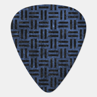 WOVEN1 BLACK MARBLE & BLUE STONE (R) GUITAR PICK