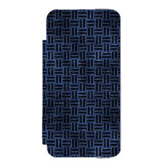 WOVEN1 BLACK MARBLE & BLUE STONE (R) INCIPIO WATSON™ iPhone 5 WALLET CASE
