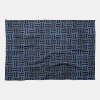WOVEN1 BLACK MARBLE & BLUE STONE (R) KITCHEN TOWEL