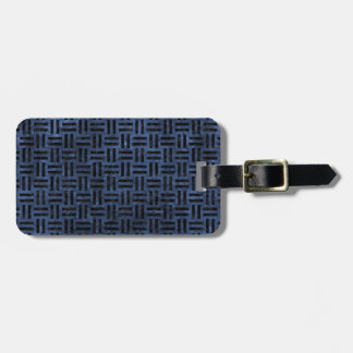 WOVEN1 BLACK MARBLE & BLUE STONE (R) LUGGAGE TAG