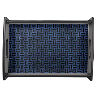 WOVEN1 BLACK MARBLE & BLUE STONE (R) SERVING TRAY