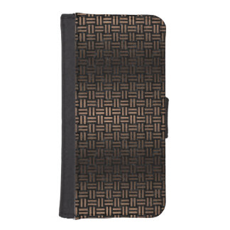 WOVEN1 BLACK MARBLE & BRONZE METAL iPhone SE/5/5s WALLET CASE