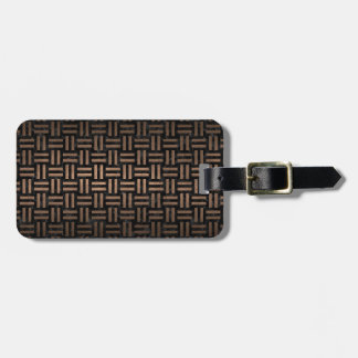 WOVEN1 BLACK MARBLE & BRONZE METAL LUGGAGE TAG