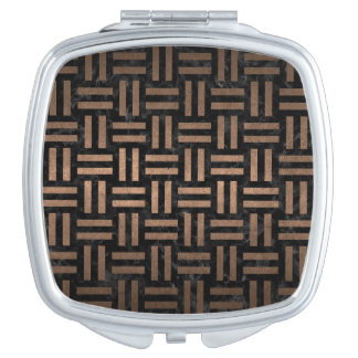 WOVEN1 BLACK MARBLE & BRONZE METAL MIRRORS FOR MAKEUP