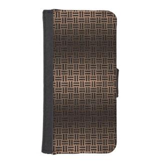 WOVEN1 BLACK MARBLE & BRONZE METAL (R) iPhone SE/5/5s WALLET CASE