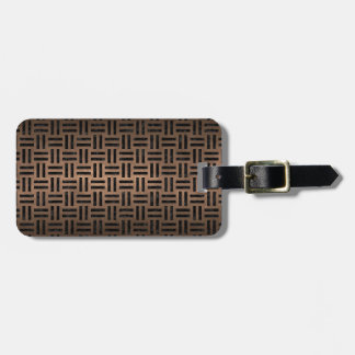WOVEN1 BLACK MARBLE & BRONZE METAL (R) LUGGAGE TAG
