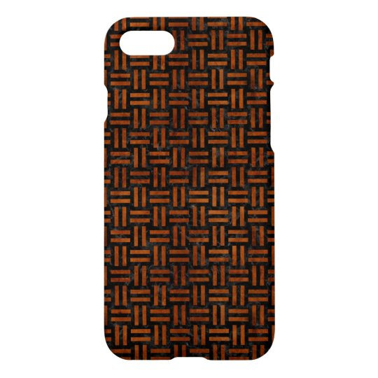 WOVEN1 BLACK MARBLE & BROWN BURL WOOD iPhone 7 CASE
