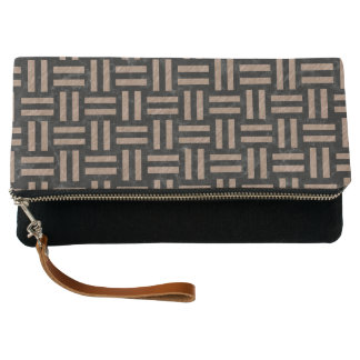 WOVEN1 BLACK MARBLE & BROWN COLORED PENCIL CLUTCH
