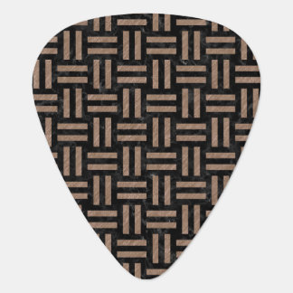 WOVEN1 BLACK MARBLE & BROWN COLORED PENCIL GUITAR PICK