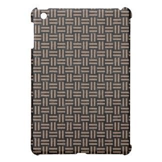 WOVEN1 BLACK MARBLE & BROWN COLORED PENCIL iPad MINI COVER