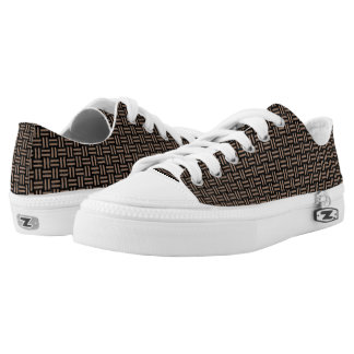 WOVEN1 BLACK MARBLE & BROWN COLORED PENCIL Low-Top SNEAKERS