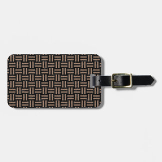 WOVEN1 BLACK MARBLE & BROWN COLORED PENCIL LUGGAGE TAG