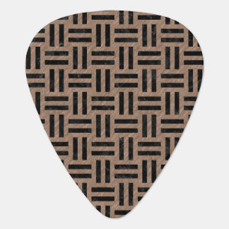 WOVEN1 BLACK MARBLE & BROWN COLORED PENCIL (R) GUITAR PICK