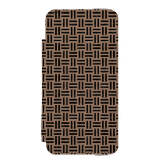 WOVEN1 BLACK MARBLE & BROWN COLORED PENCIL (R) INCIPIO WATSON™ iPhone 5 WALLET CASE