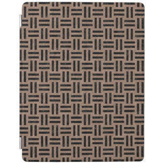 WOVEN1 BLACK MARBLE & BROWN COLORED PENCIL (R) iPad COVER