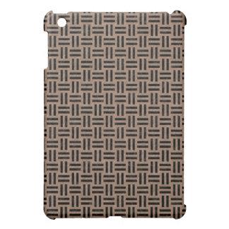 WOVEN1 BLACK MARBLE & BROWN COLORED PENCIL (R) iPad MINI COVER
