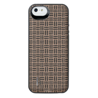 WOVEN1 BLACK MARBLE & BROWN COLORED PENCIL (R) iPhone SE/5/5s BATTERY CASE