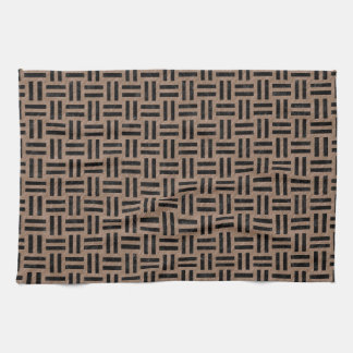 WOVEN1 BLACK MARBLE & BROWN COLORED PENCIL (R) KITCHEN TOWEL