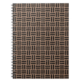WOVEN1 BLACK MARBLE & BROWN COLORED PENCIL (R) NOTEBOOKS