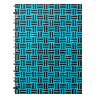 WOVEN1 BLACK MARBLE & TURQUOISE MARBLE (R) NOTEBOOKS