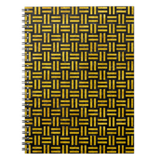 WOVEN1 BLACK MARBLE & YELLOW MARBLE NOTEBOOKS
