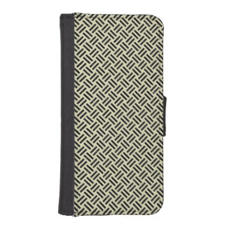 WOVEN2 BLACK MARBLE & BEIGE LINEN (R) iPhone SE/5/5s WALLET CASE
