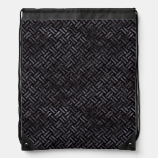 WOVEN2 BLACK MARBLE & BLACK WATERCOLOR DRAWSTRING BAG