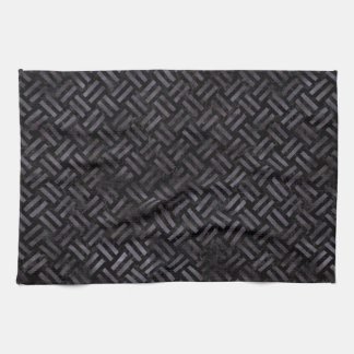 WOVEN2 BLACK MARBLE & BLACK WATERCOLOR KITCHEN TOWEL