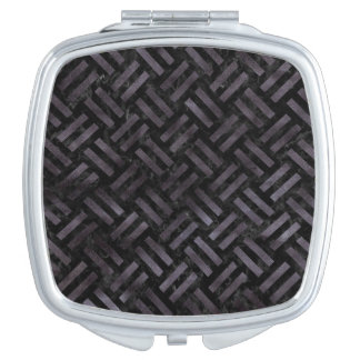 WOVEN2 BLACK MARBLE & BLACK WATERCOLOR MIRROR FOR MAKEUP