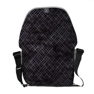 WOVEN2 BLACK MARBLE & BLACK WATERCOLOR (R) COURIER BAG