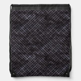 WOVEN2 BLACK MARBLE & BLACK WATERCOLOR (R) DRAWSTRING BAG