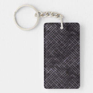 WOVEN2 BLACK MARBLE & BLACK WATERCOLOR (R) KEYCHAIN