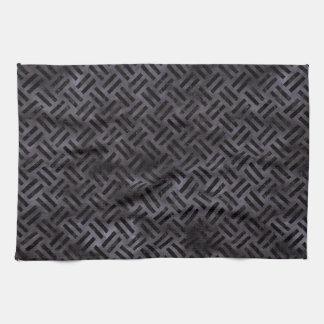 WOVEN2 BLACK MARBLE & BLACK WATERCOLOR (R) KITCHEN TOWEL