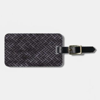 WOVEN2 BLACK MARBLE & BLACK WATERCOLOR (R) LUGGAGE TAG