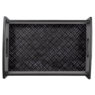 WOVEN2 BLACK MARBLE & BLACK WATERCOLOR SERVING TRAY