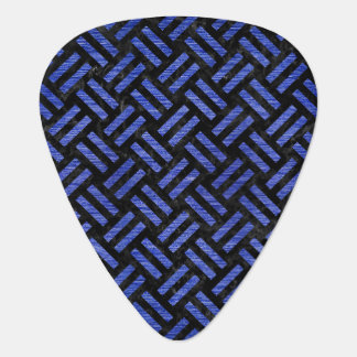 WOVEN2 BLACK MARBLE & BLUE BRUSHED METAL GUITAR PICK