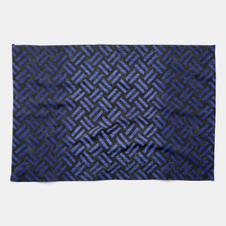 WOVEN2 BLACK MARBLE & BLUE BRUSHED METAL KITCHEN TOWEL