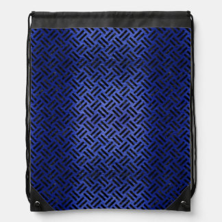 WOVEN2 BLACK MARBLE & BLUE BRUSHED METAL (R) DRAWSTRING BAG
